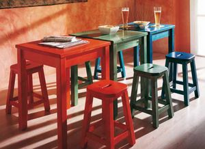 Bar, Solid pine wood table for restaurants