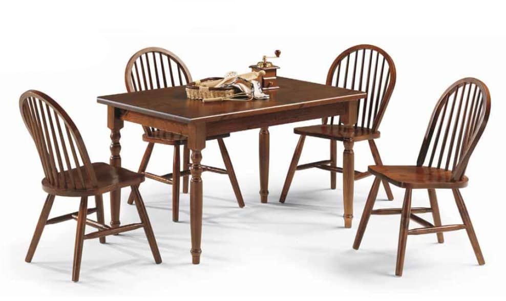 Bormio, Rustic wood table, for farmhouse restaurants and pubs