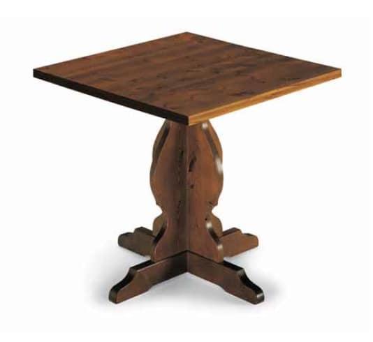 Tirano-410, Rustic table in pine wood