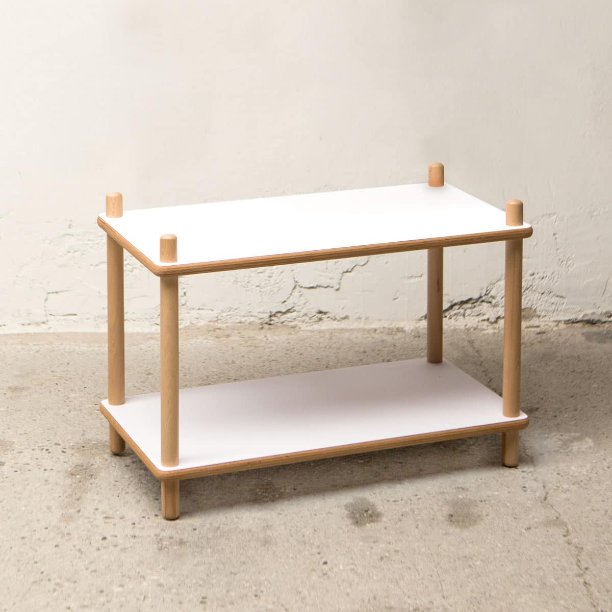 Bolz Low shelf, Lower shelf in beech and laminate, robust