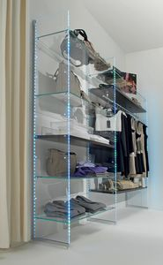 Glassystem COM/GS10, Glass shelving with LED lights