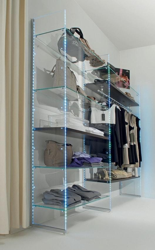 Glassystem COM/GS10, Glass shelving with LED lights