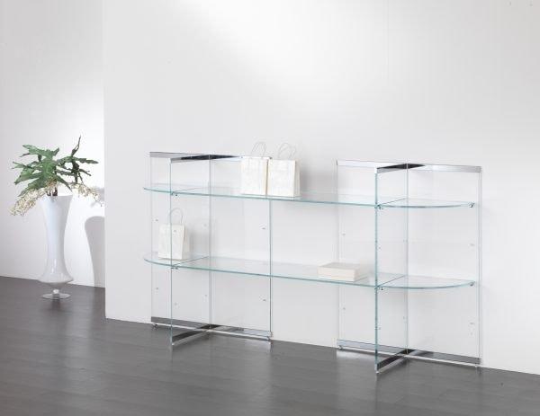 Glassystem COM/GS16, Glass displays for shops