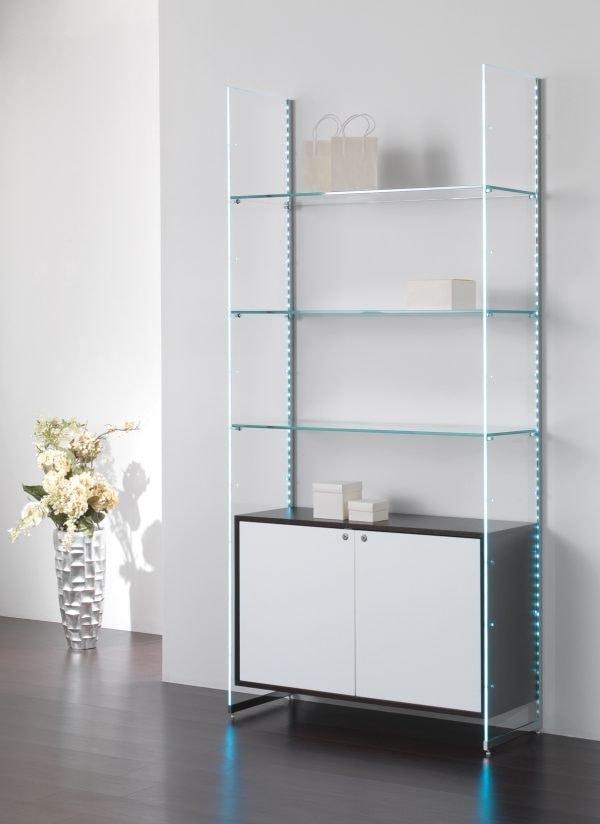 Glassystem COM/GS22, Glass shelving with led lights