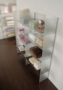 Glassystem COM/GS6, Satin glass shelves
