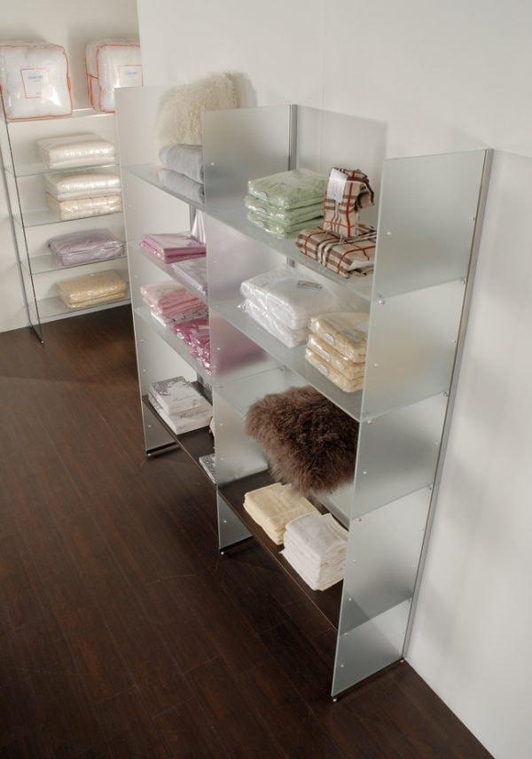 Glassystem COM/GS6, Satin glass shelves