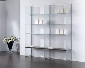 Glassystem COM/GS21, Glass composition, bookcase, showcase, house and shop