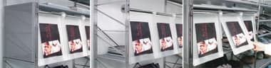 Socrate display unit, Methacrylate Shelving with steel structure
