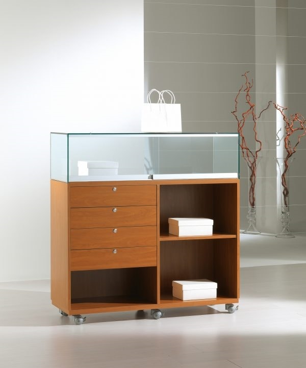 Laminato Light 12/120B, Shop counter, with display cabinet