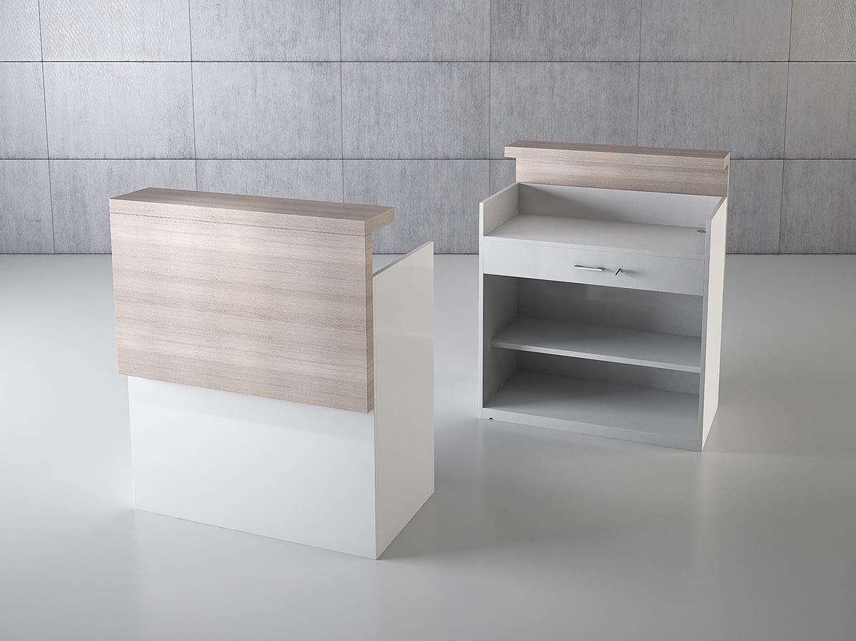 QF/10BC, Rectangular cash desk with drawers