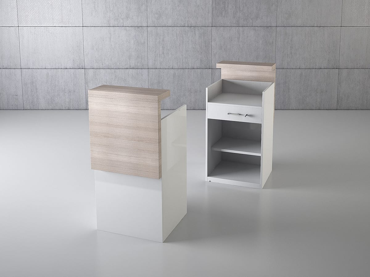 QF/5BC, Wooden shop chest counter with drawer