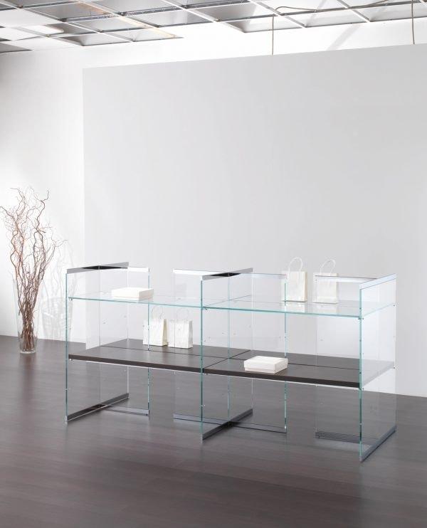 Glassystem COM/GS18, Display cabinet for shop