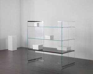 Glassystem COM/GS19, Glass shelves for shop