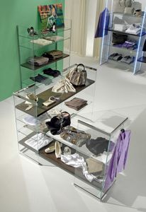 Glassystem COM/GS9, Corner shelving for shops