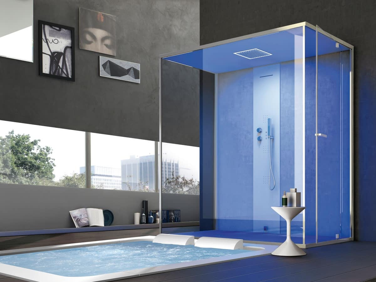 Large shower cubicle, multi-functional, for Home | IDFdesign