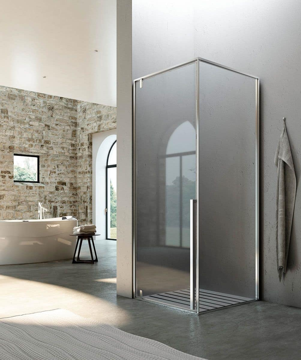 Shower booth pivot system for modern bathroom idfdesign for Docce bagni moderni