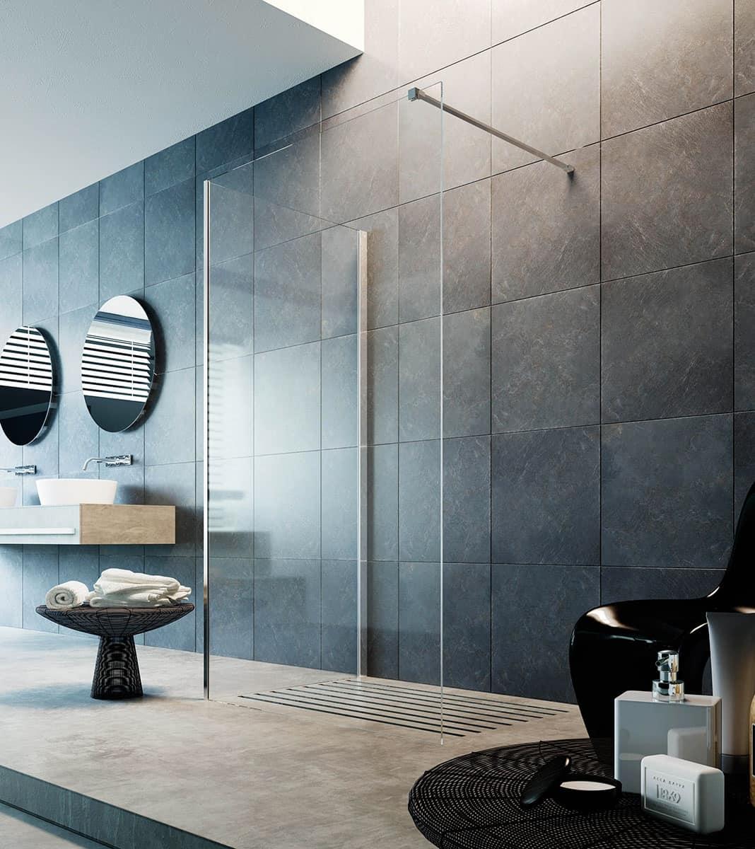 Closing walk-in shower, floor-mounted or shower tray installation ...