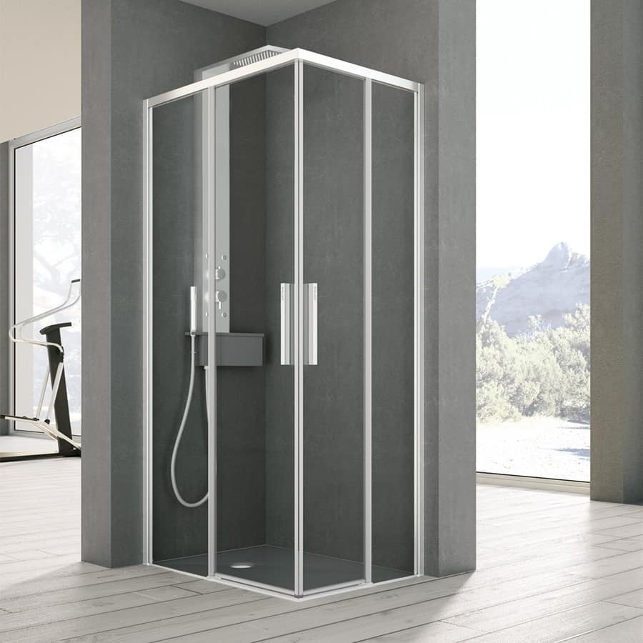 Shower cubicle with two sliding doors, for household | IDFdesign