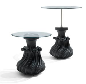 5308/G-M-P Scoubidou, Coffee table with round glass top