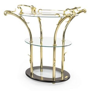 911, Classic side table, with glass tops