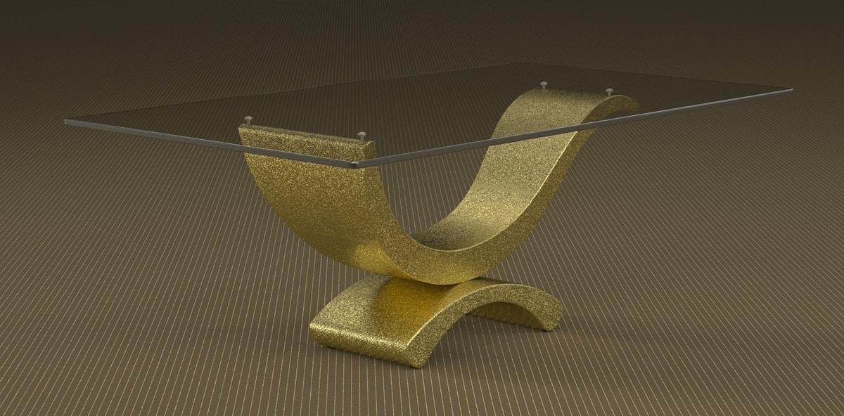Aker, Stone and glass coffee table