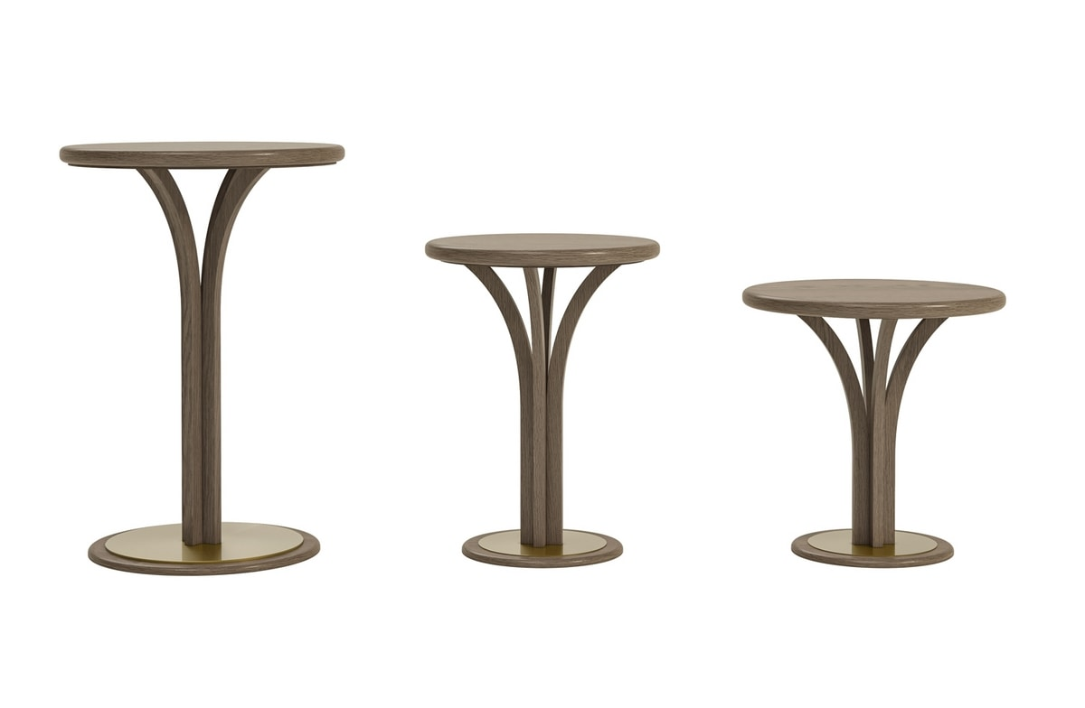 Alexander Art. A16/M - A16/A, Side table with round top in ash wood