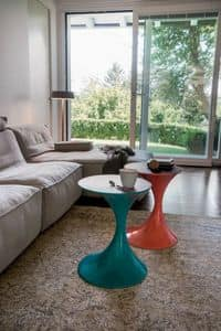ANDORRA, Modern coffee tables, with wooden or glass top, for living room