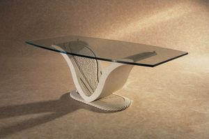 Anubi, Classic table, base in stone