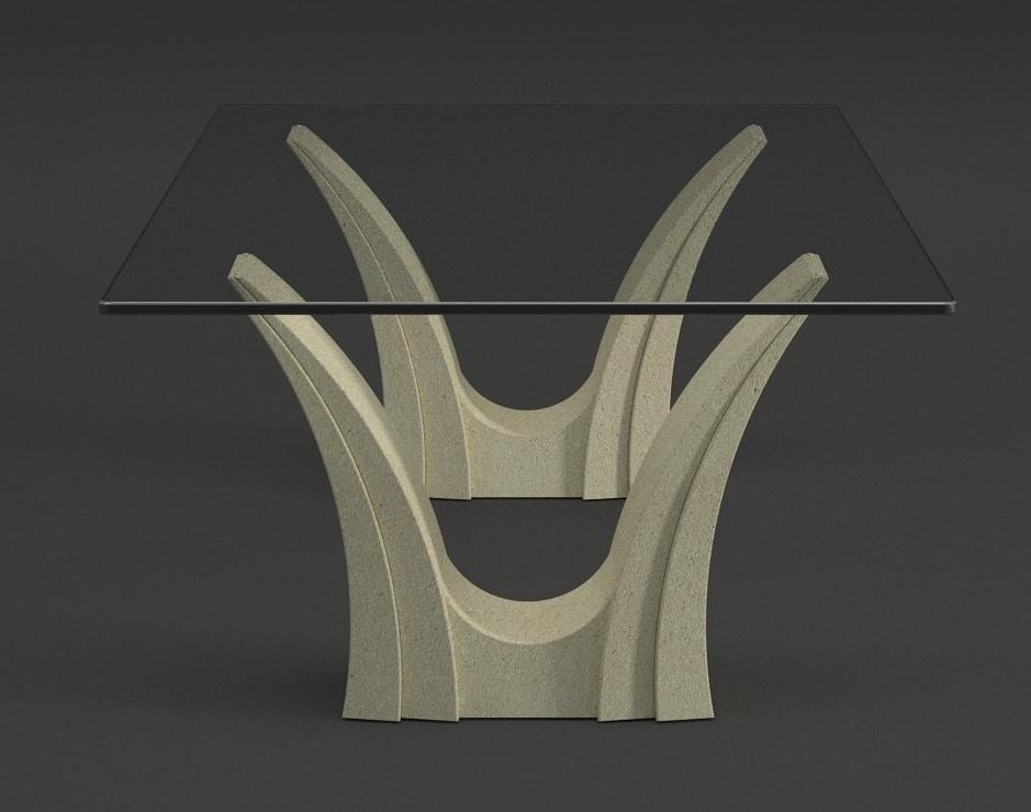 Apollo, Coffee table with double stone base