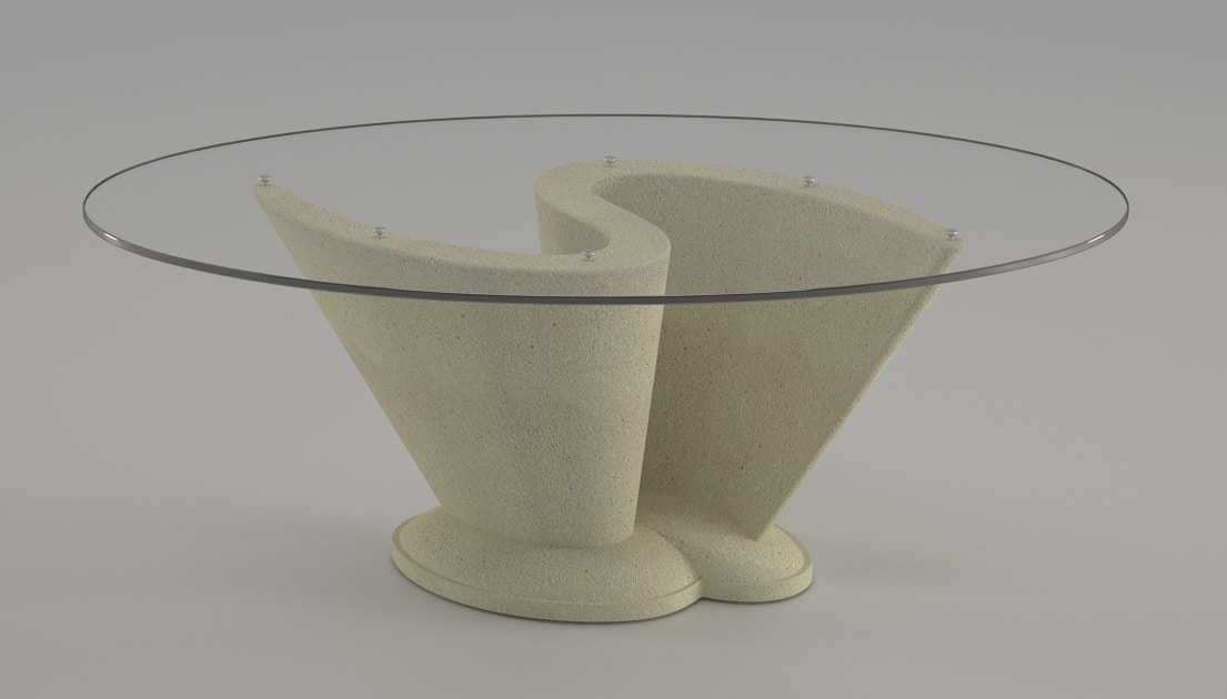 Coffee Table With Oval Glass Top Idfdesign