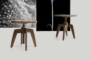 Archita small table, Wooden table, with adjustable height