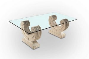 Arpa, Coffee table with base in the form of a harp