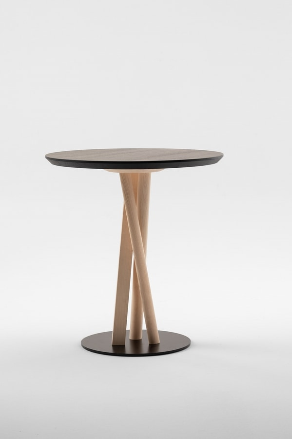 ART. 00123-R NIELS, Round table on a woven base