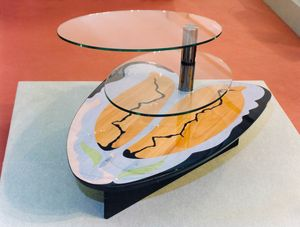 Art. 234, Coffee table for living room with 2 glass shelves