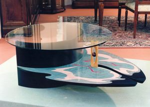 Art. 235, Polychrome coffee table with glass top