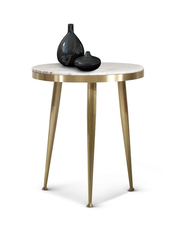ART. 3342, Side table in satin brass casting
