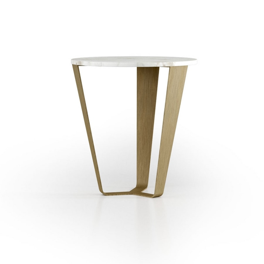 ART. 3452, Side table with round marble top