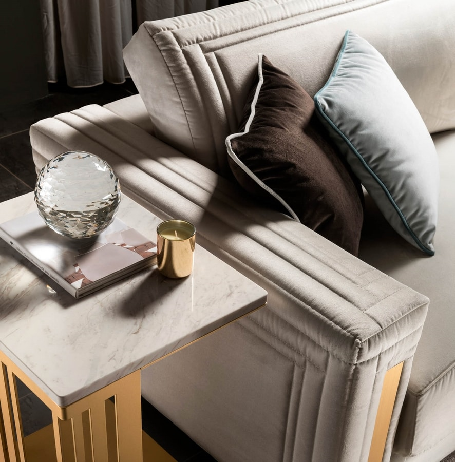 ATMOSFERA side table, Side table with sophisticated, robust and shiny structure
