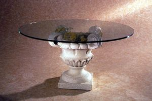 Atunis, Classic style coffee table, stone base