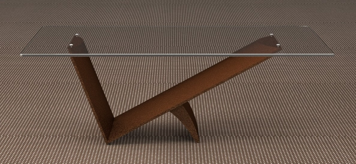 Benzai, Coffee table with glass top