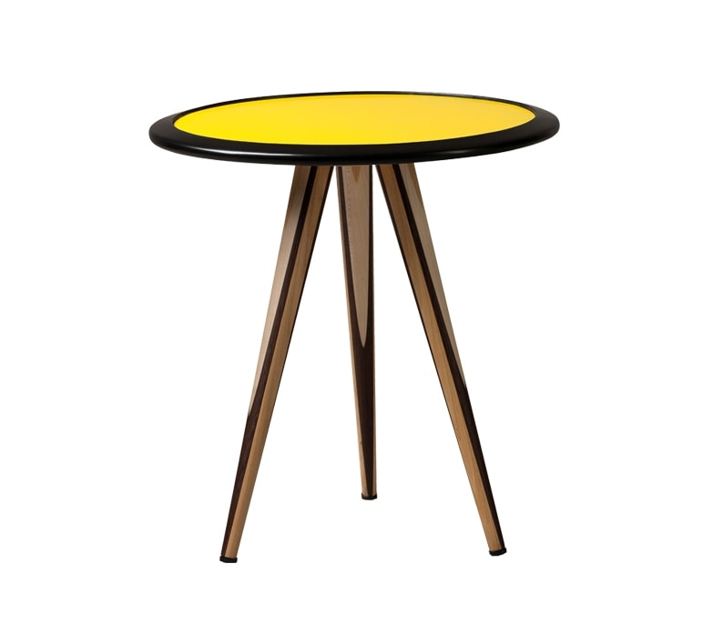 Carambola 5607, Coffee table with colored round top