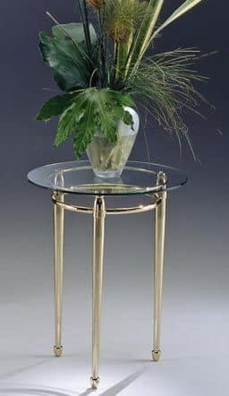 CARTESIO 280, Side table, round, brass, for living room