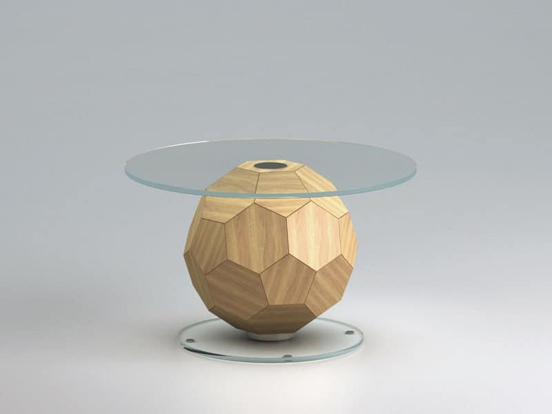 Champion 1, Coffee table room, barrel-shaped soccer ball