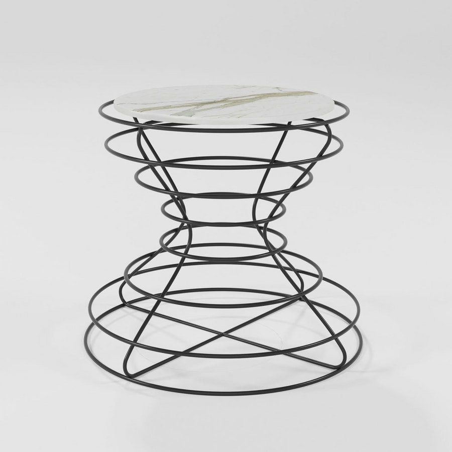 Clessidra coffee table, Coffee table with round top