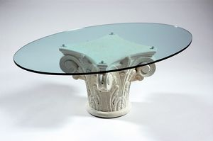 Corinto, Coffee table with Greek style base