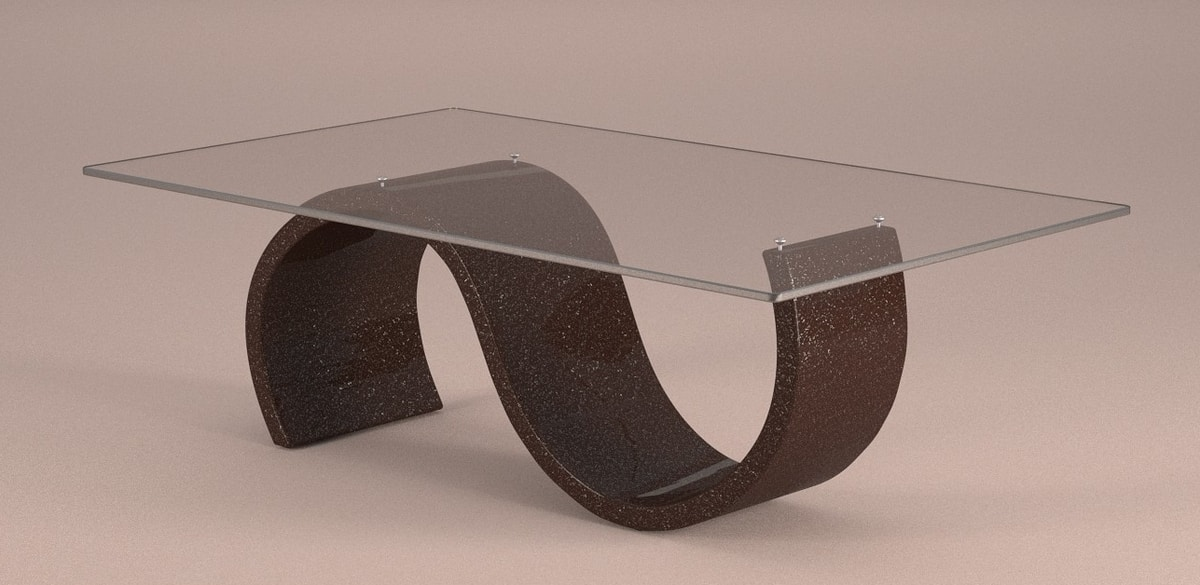 Crono, Modern side table with stone effect base
