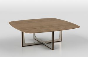 Cross low table 1, Coffee table with ceramic or wood top
