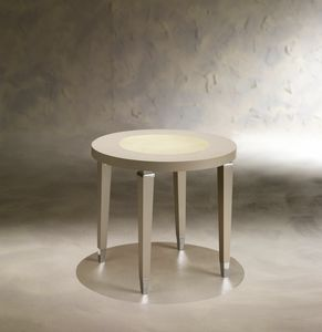Dahlia 369T, Wooden side table with round top