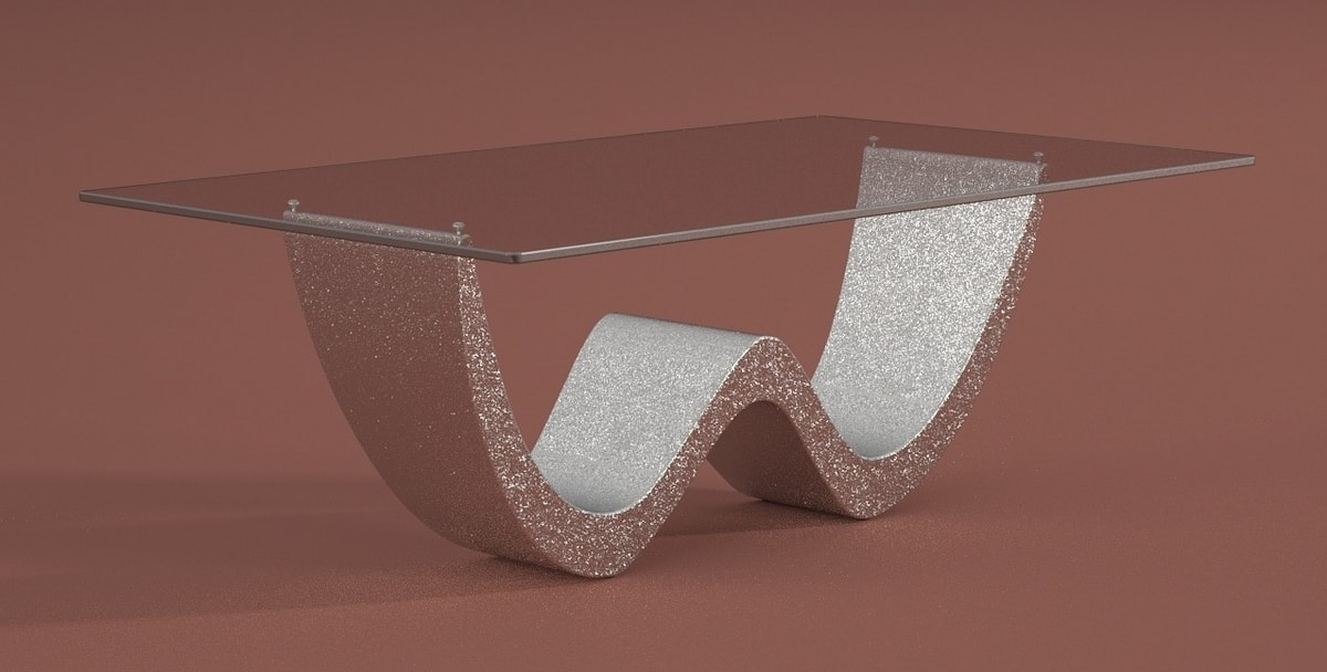 David, Coffee table with glass top