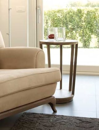 Dedalo round small table, Round side table for sitting room
